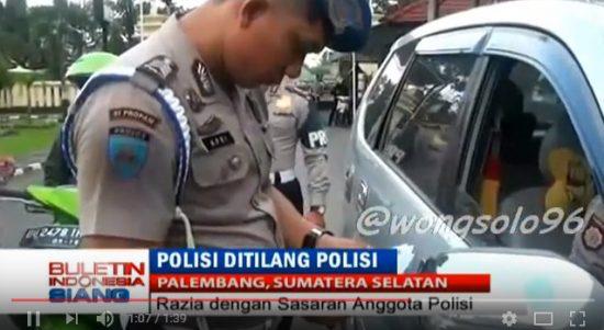Video Viral, Polisi Ditilang Polisi