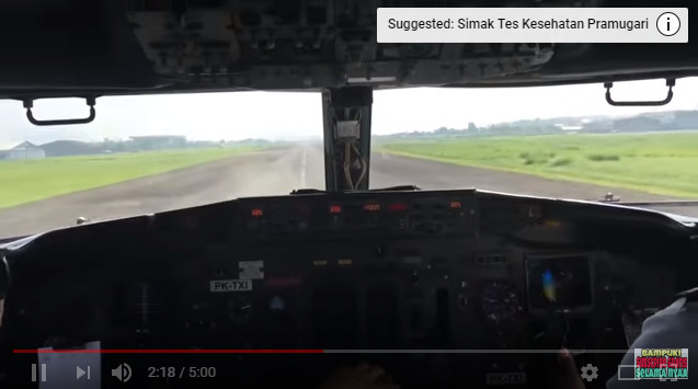 Viral, Merekam Proses TAKE OFF Pesawat dari Ruang Kokpitnya, Lihat Pak Pilot nya langsung, Om