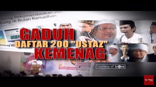 """Islam Gaduh - Daftar 200 """"Ustadz"""" Kemenag"""