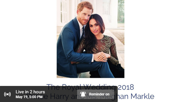 Viral, Siaran Langsung The Royal Wedding 2018: Prince Harry and Ms. Meghan Markle