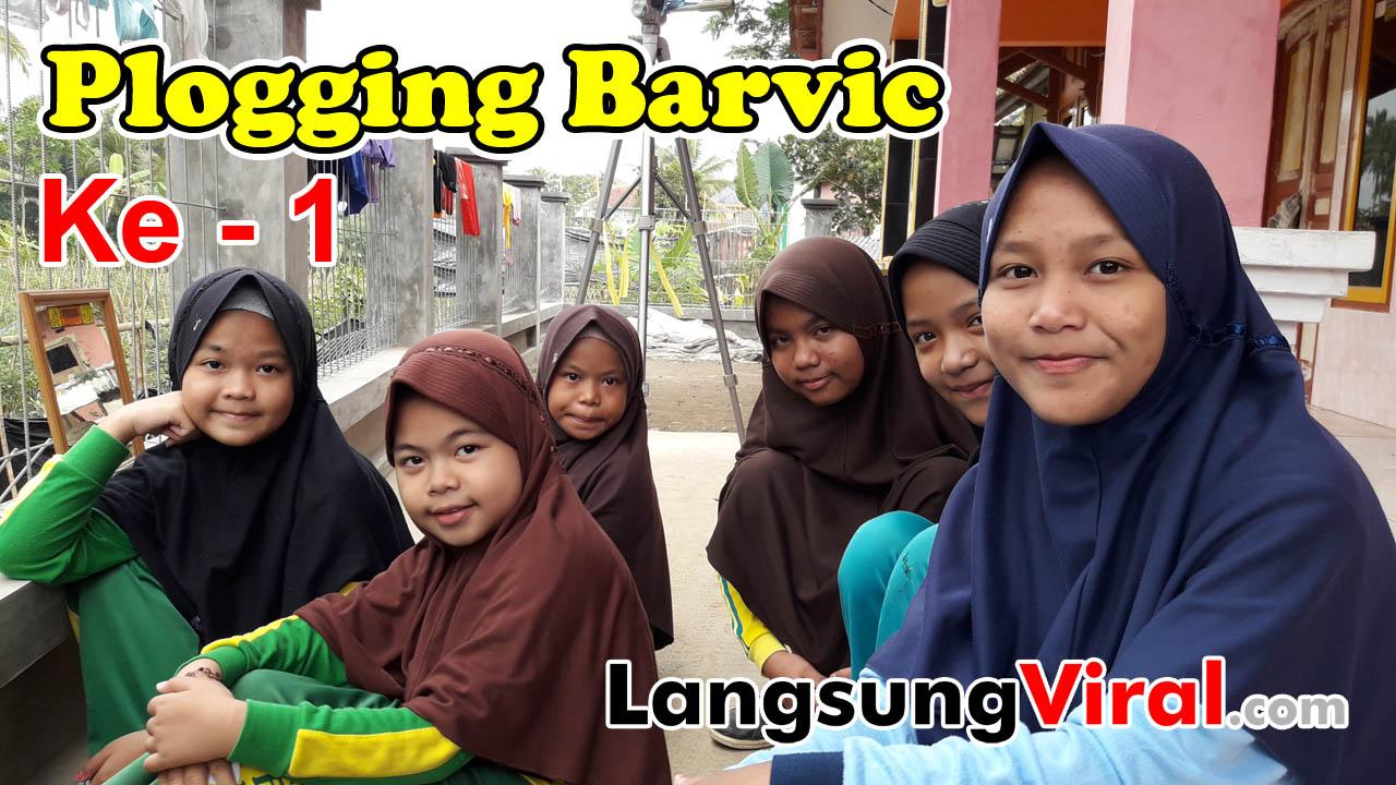 Acara Plogging Anak Barvic ke 1 Nih Om, Sabtu, 9 Juni 2018