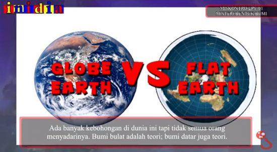 Kontroversi, Mana yang Masuk Akal, Teori Bumi Datar atau Teori Bumi Bulat?