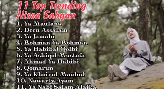 Viral, Youtube Full Album 11 Top Trending Nissa Sabyan