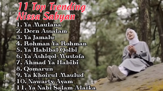 Viral, Youtube Full Album 11 Top Trending Nissa Sabyan