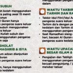 Surat Edaran tentang Pengeras Suara - Tuntunan Penggunaan Pengeras Suara di Masjid