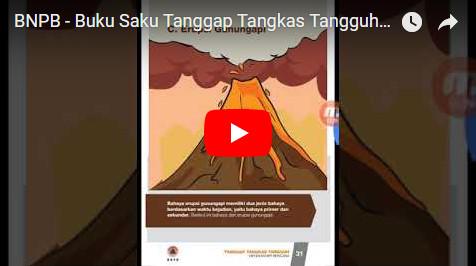 Peduli Masyarakat, BNPB Terbitkan dan Sebarkan Ebook Buku Saku Tanggap Tangkas Tangguh Menghadapi Bencana