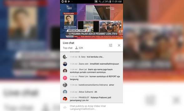 Pesawat Lion Air JT-610 Jatuh di Tanjung Karawang (Senin, 29 Oktober 2018)