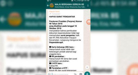 Mengurus Kartu Keluarga, e-KTP, Akta Kelahiran & Akta Kematian Tidak Perlu Surat Pengantar RT RW Kelurahan Kecamatan