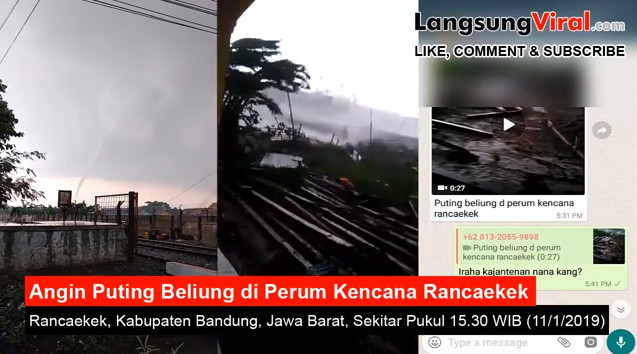 Astagfirullahaladzim, Angin Puting Beliung Rusak Puluhan Rumah di Rancaekek Bandung