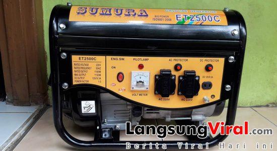 Genset Sumura ET 2500C 1100 Watt Bahan Bakar Bensin Harga 1.9 Jt (PD. AMAN Tasik - 19 Februari 2019)