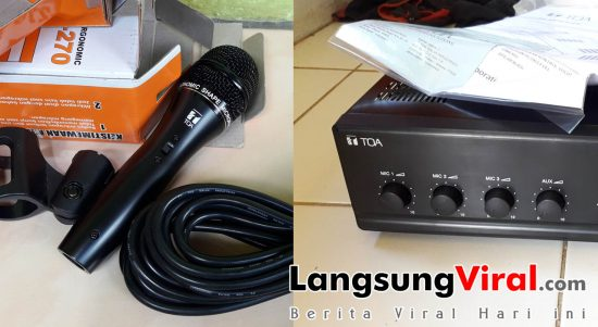 Review Penguat Suara (Amplifier) TOA ZA-230W dan Mikropon TOA ZM-270
