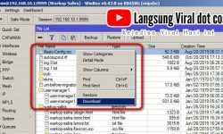 Cara Backup Settingan Routerboard Mikrotik – WinBox v6.43.8 on RB450G (mipsbe)