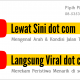 Dua Channel YouTube yang sedang digarap SALIRA, Lewat Sini dot com dan Langsung Viral dot com