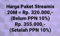 Paket Indihome Streamix 20, Sewa Modem Internet 20K, Sewa STB UseeTV 20K, Total Sewa Modem plus STB nya 40K