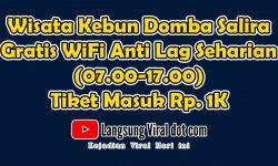 Wisata Kebun Domba Salira, Gratis WiFi Anti Lag Seharian (07.00-17.00) Tiket Masuk Rp. 1K
